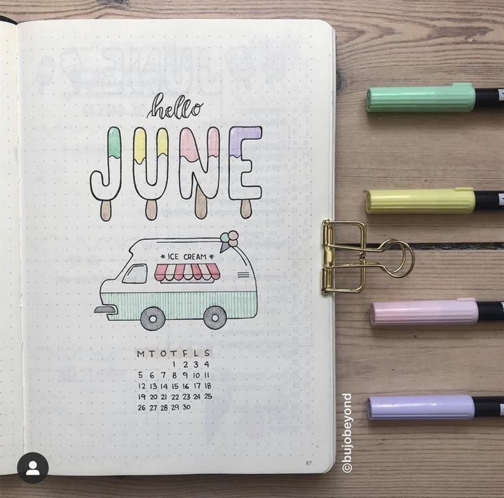 Cute Bullet Journal Cover Pages