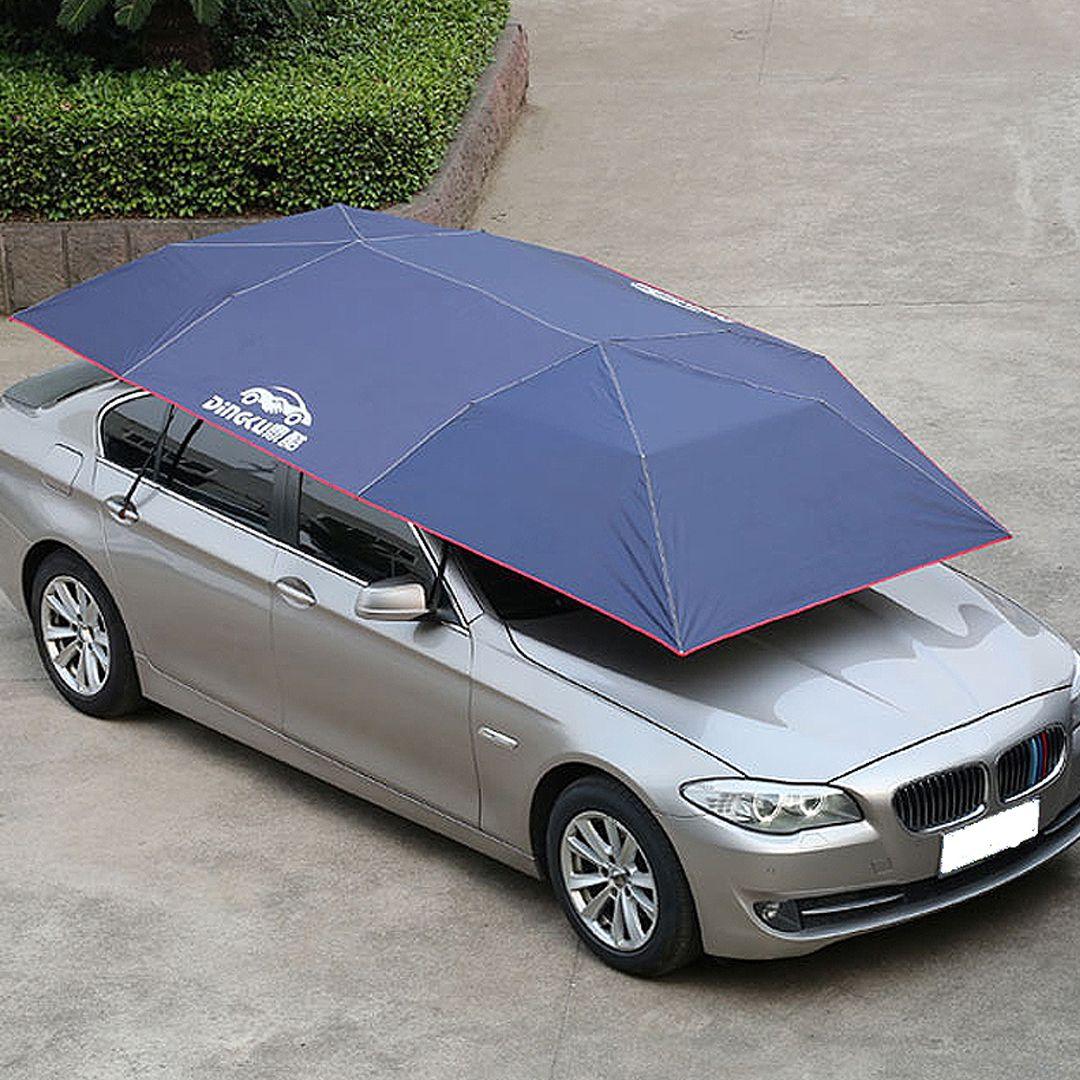 f73f5dab718a Universal Semi-automatic Summer Sunproof Solid Car Cover