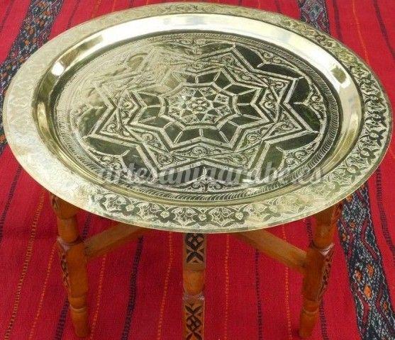 Mesa de t rabe de marruecos artesan a rabe y - Artesania y decoracion ...