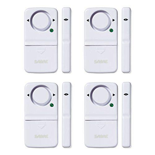 Sabre Wireless Home Security Door Window Burglar Alarm With Loud