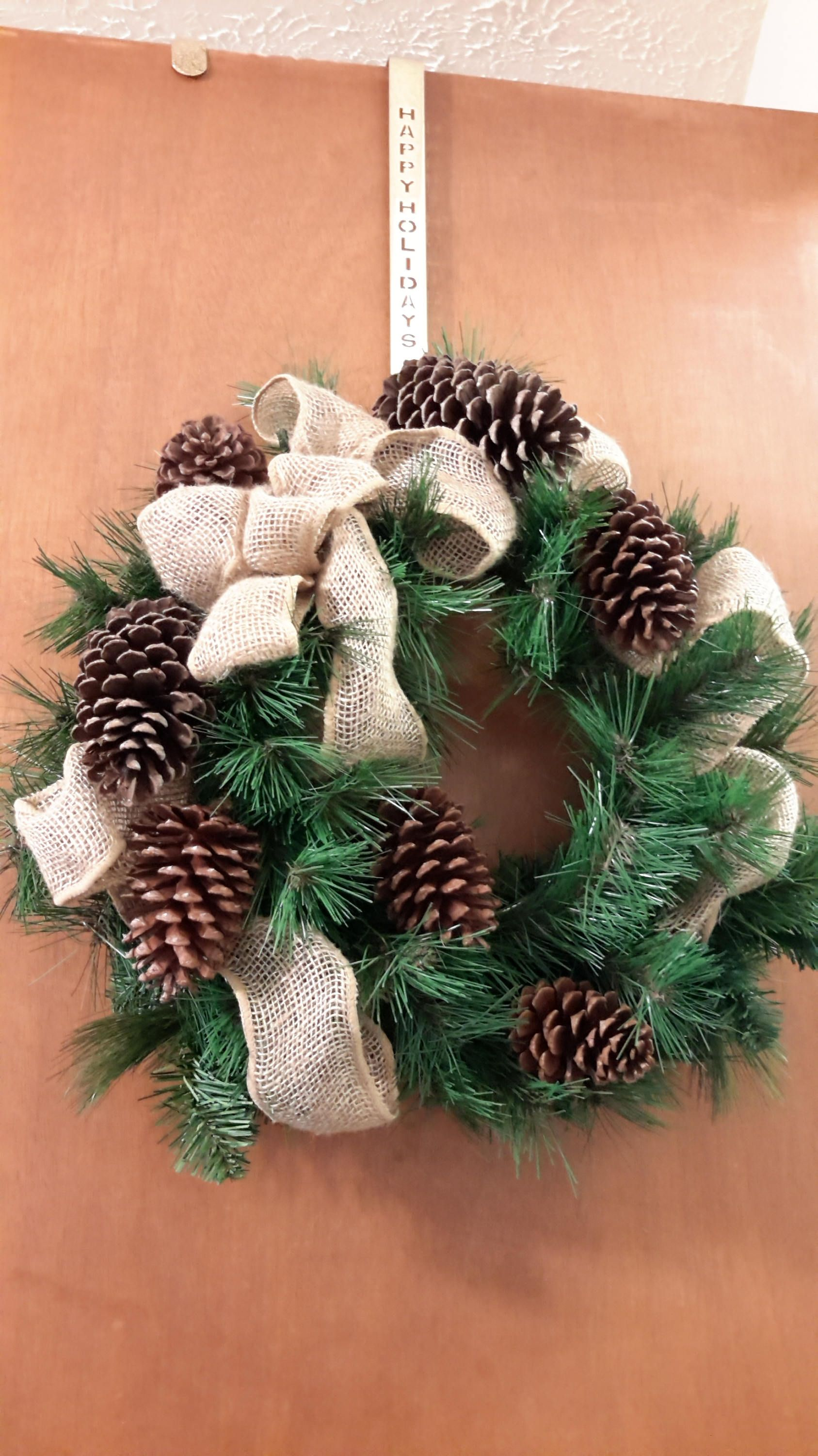 christmas wreath minimalist style wreath rustic wreath by goodwreathsbykathy on etsy - Christmas Wreaths Etsy