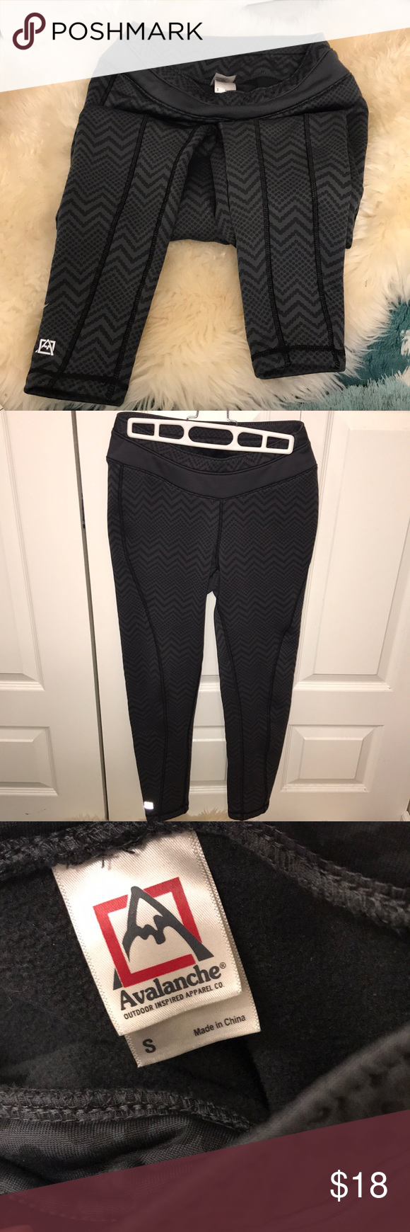 697af7a8bab6b1 Avalanche Mogul Fleece Leggings Ski Snowboard S Avalanche Mogul Fleece  Leggings Ideal for Winter Ski/Hike/Walk/Snow Sports. Thick fast wicking  brushed ...