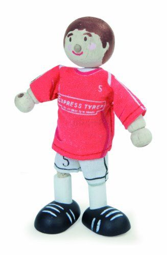 wholesale dealer 30399 9a83a Budkins Soccer Player Footballer 5 Toy Figure, Red *** This ...