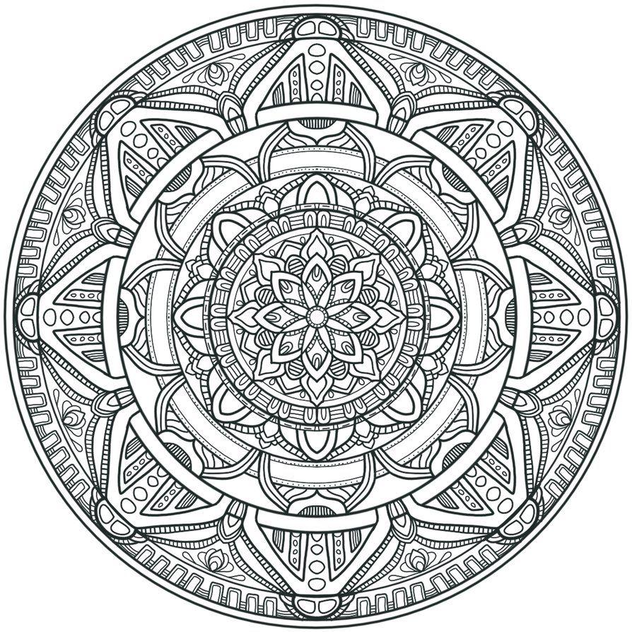 Best 25 Mandalas To Color Ideas On Pinterest