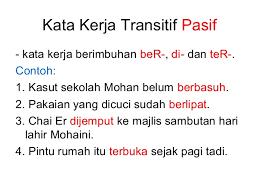 Hasil Gambar Untuk Kata Kerja Pasif Bahasa Sekolah Bahasa Indonesia
