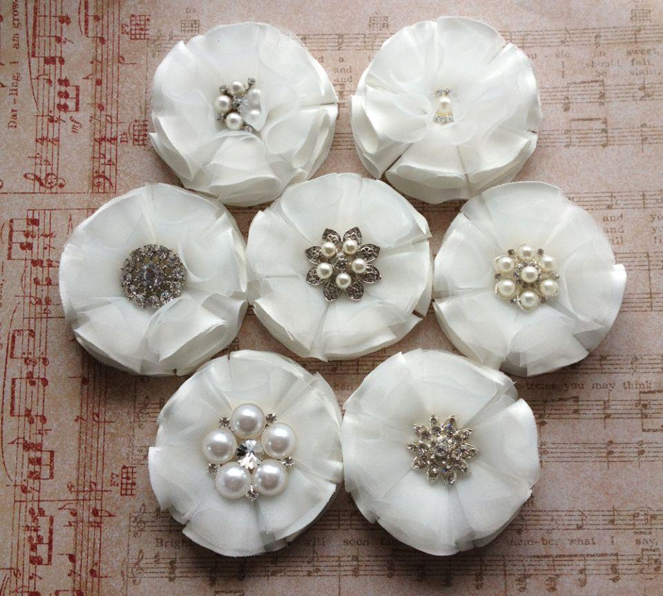 Fabric Flower Wedding Bouquet Tutorial: Diy Bridal Bouquet Fabric Flowers Viogemini 5