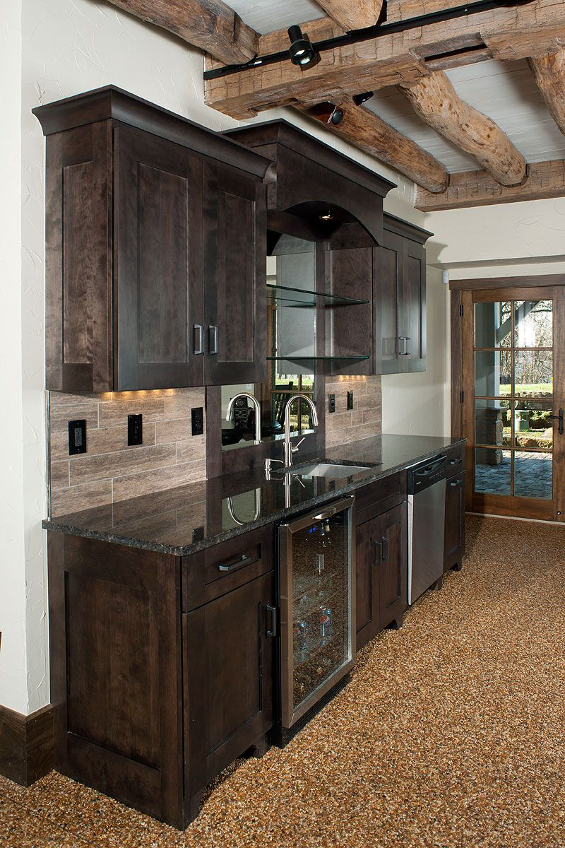Pin By Mullet Cabinet On Bar Areas Rustic Basement Rustic Basement Bar Basement Kitchen