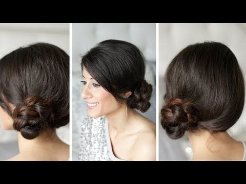 Braided Side Bun. You have to have long hair to do they Luxy hairstyles, but they sure are cute.