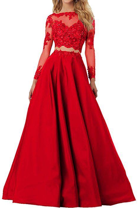 Milano Bride Elegant Rot Damen Lang Abendkleider ...