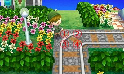 Animal Crossing: New Leaf QR Code Paths Pattern, merongcrossing: Train tracks!