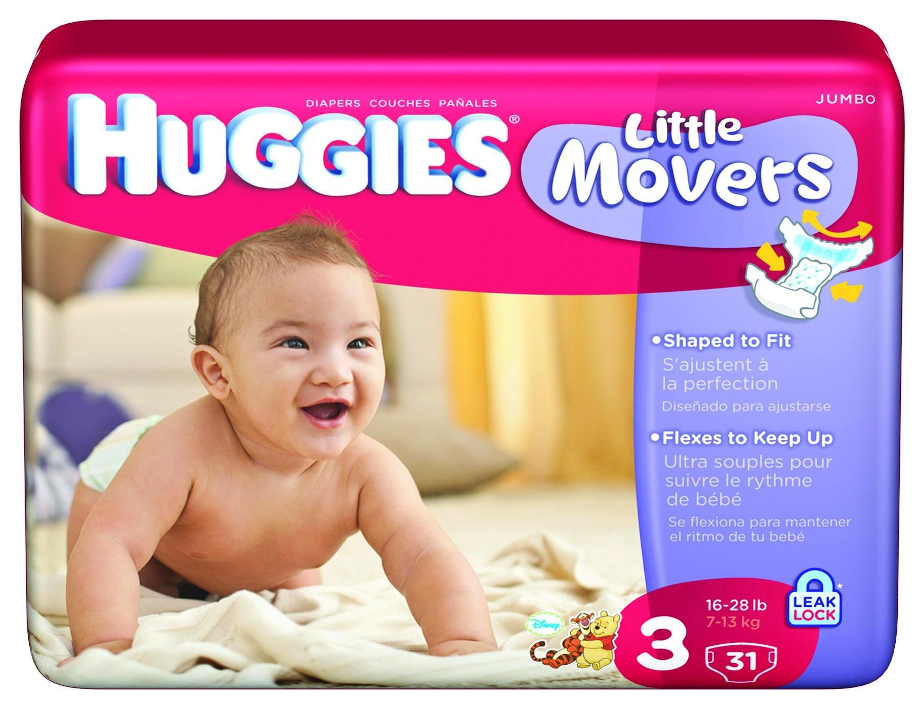 Kimberly-Clark Corporation Huggies Little Movers Diapers, Size Jumbo, 21  Per Pack