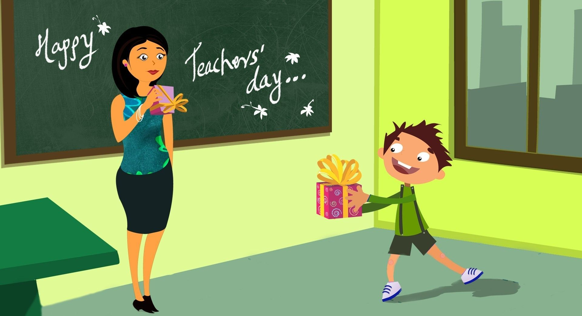 """It's natural for parents to worry about their kids; but a teacher is the only person that takes care of every other child. Such a personality and character maker deserves every piece of love and respect in the world. """"Happy Teacher's Day"""" #Teachersday #Love #Respect"""