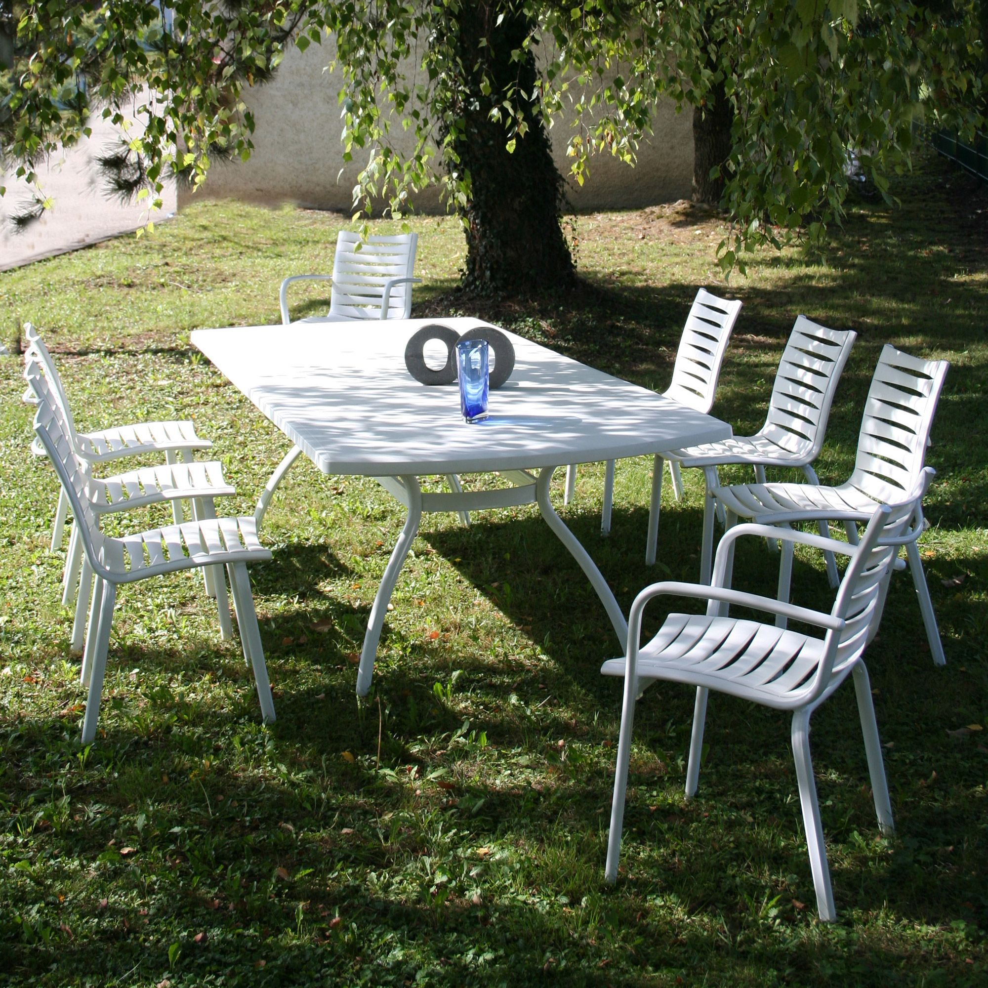 Made In France ! Salon jardin Résine 8 places (par Evolutif ...