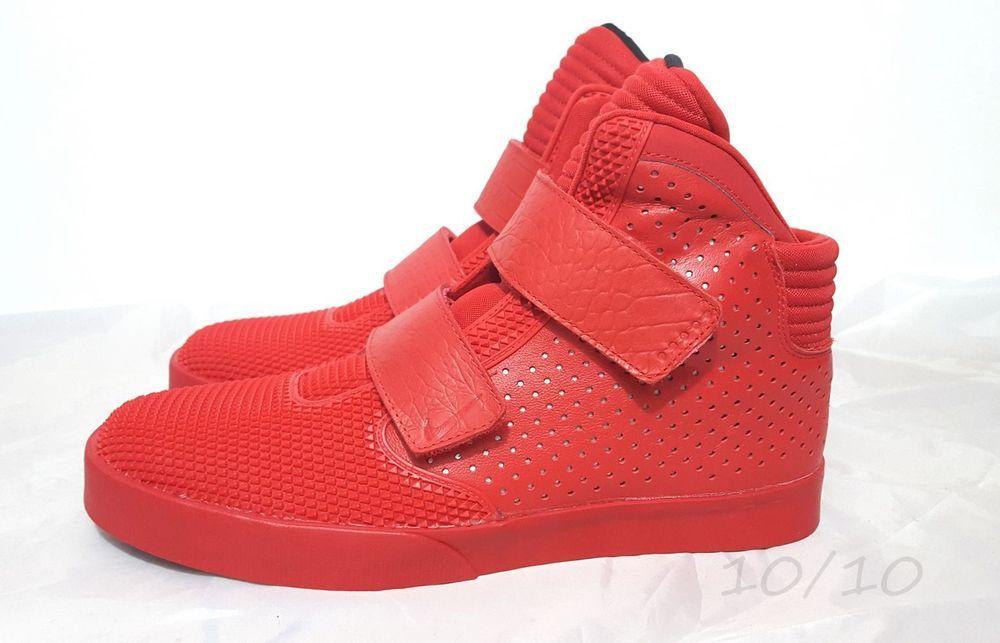 NIKE FLYSTEPPER 2K3 PRM University Chrome Red October Yeezy 677473-601 SIZE  13 #Nike