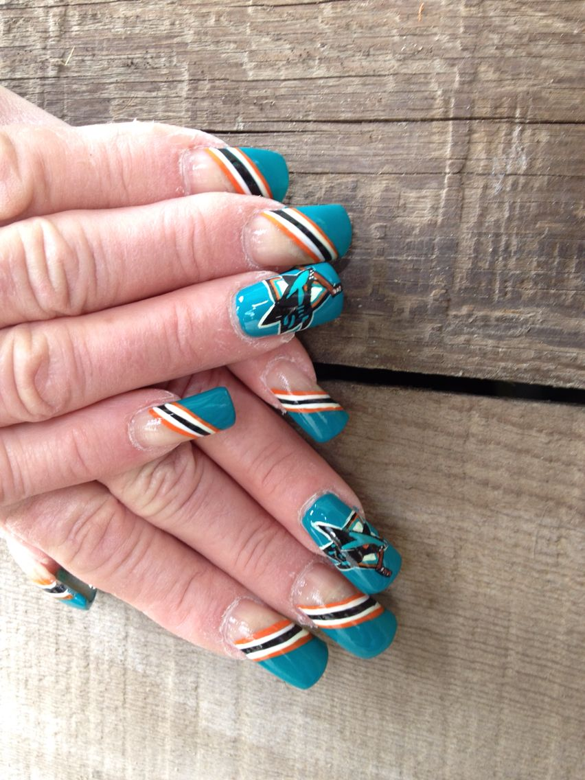 San Jose Sharks Slimmingbodyshapers To Create The Perfect Overall Style With Wonderful Supporting Plus Size Sports Nails Hockey Nails San Jose Sharks Nails