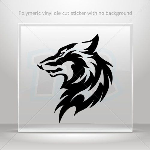 Decal sticker wolf head decoration waterproof racing vehicle tablet laptop durableêatv 0502 rs248 wolves cl http