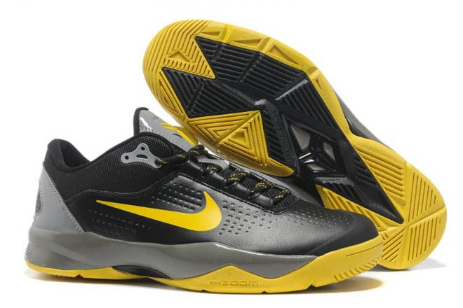 Nike Men's Zoom Kobe Venomenon 3 Basketball Shoes Black/Yellow/Grey Colors