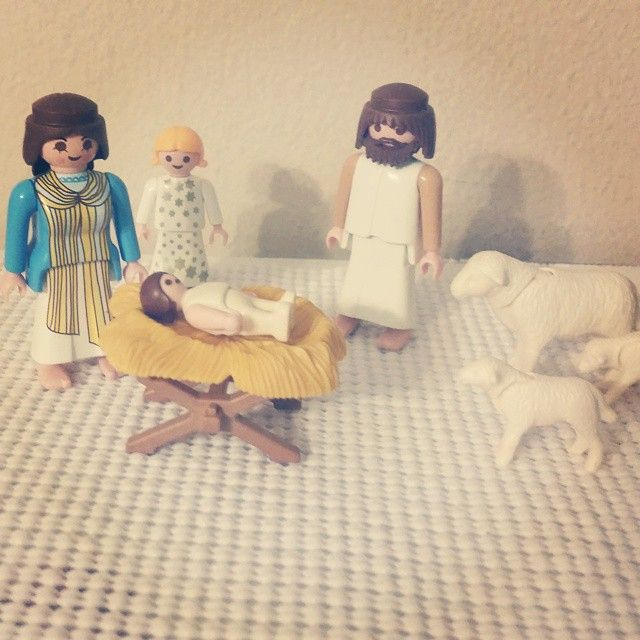 We have recently discovered Playmobil people. We are hooked!!! It's something that all 3 kids love to play with everyday. So naturally when I saw this nativity set on eBay I had to have it. #playmobil #Jesus #Christmas #nativity