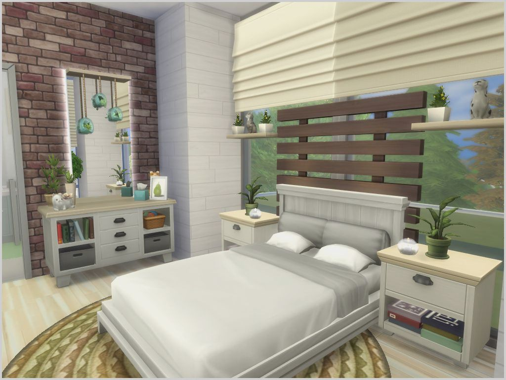Modern Look Bedroom Bed Sims 3  Sims house, Sims 3 bedroom, Sims
