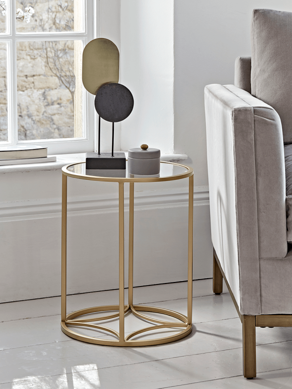 Round Gold Glass Side Table In 2020 Glass Side Tables Small Round Side Table Gold Side Table Living Room