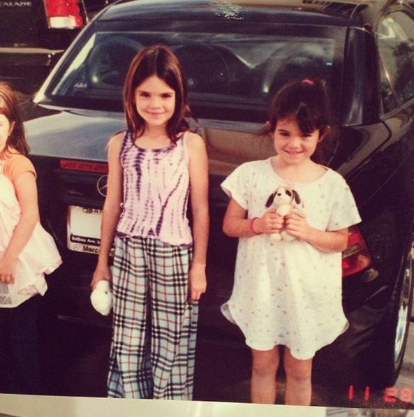 Pin for Later: 81 Pictures That Prove Kendall's Been a Fashion Girl Since Day 1 She Mixed Prints