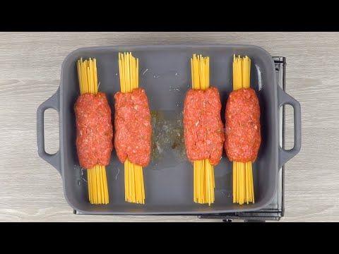 Steck die Spaghetti ins Hack und schieb alles für 30 Minuten in den Ofen - YouTube #beefdishes