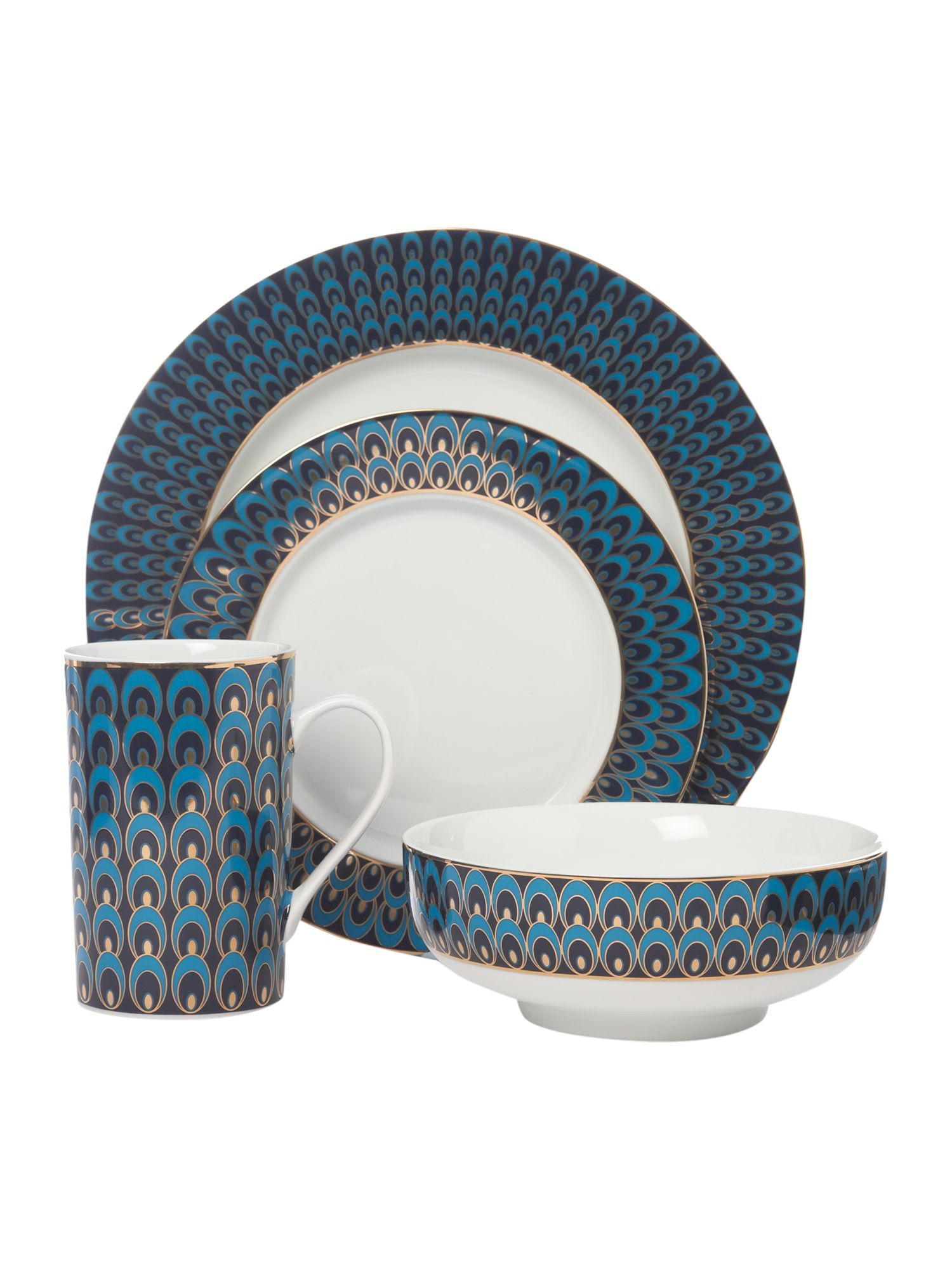 Pied a Terre Peacock 16 piece dinner set Was £122.00 Now £97.60 Shop all Dining  sc 1 st  Pinterest & Pied a Terre Peacock 16 piece dinner set Was £122.00 Now £97.60 Shop ...