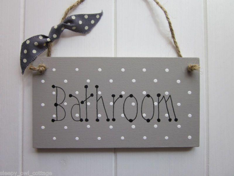 SHABBY CHIC BATHROOM SIGN PLAQUE Laura Ashley Grey   eBay. SHABBY CHIC BATHROOM SIGN PLAQUE Laura Ashley Grey   eBay   Ba os