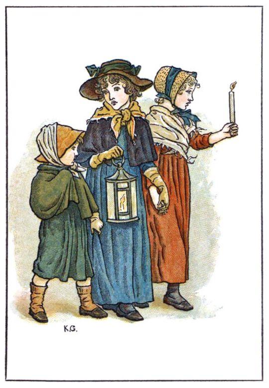November.  Kate Greenaway, from Kate Greenaway's almanack for 1893, London, [1892].