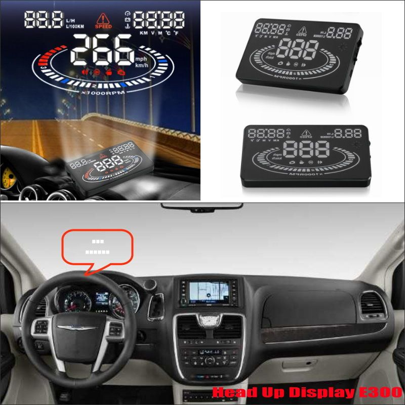 For Chrysler Town Country 2015 2016 Car Head Up Display Saft