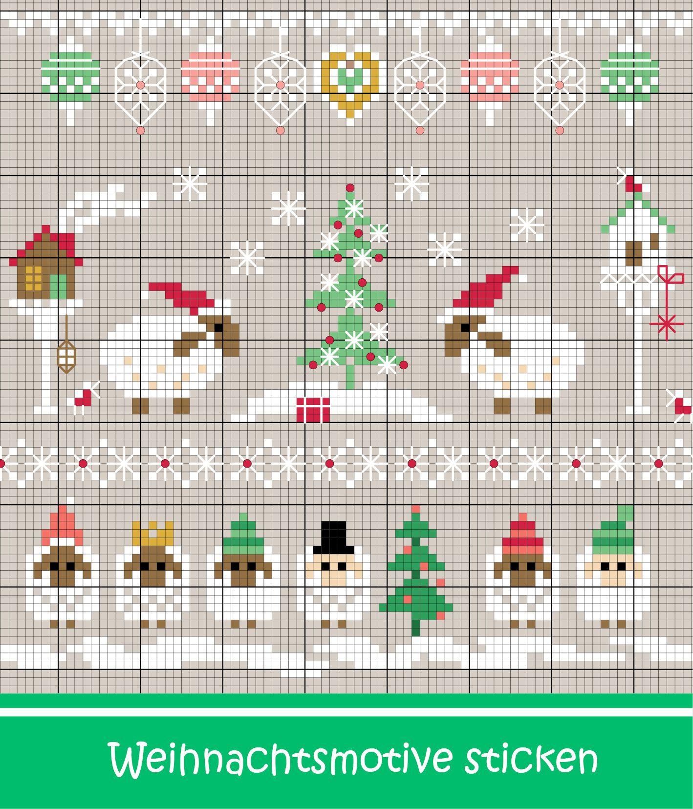 Weihnachtliche Schafe sticken - Entdecke zahlreiche kostenlose ...