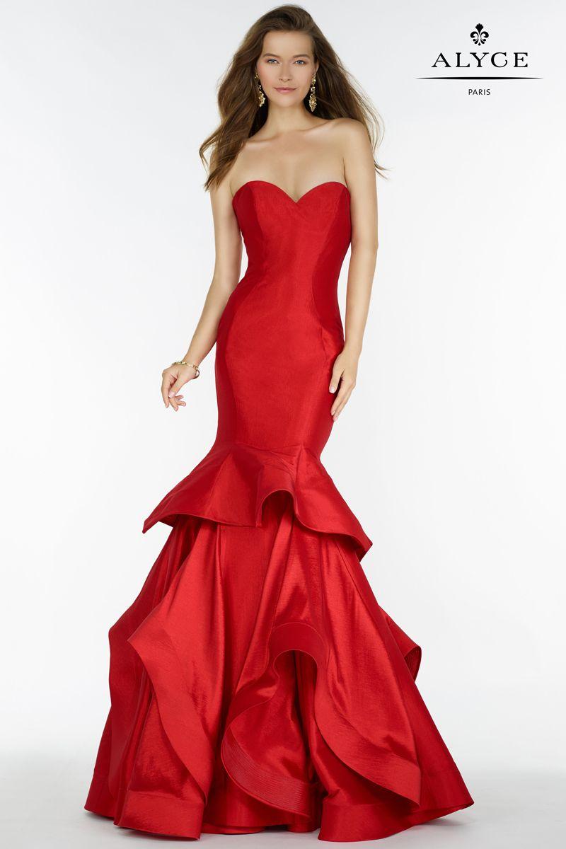 Red mermaid dress fashion pinterest red mermaid dress