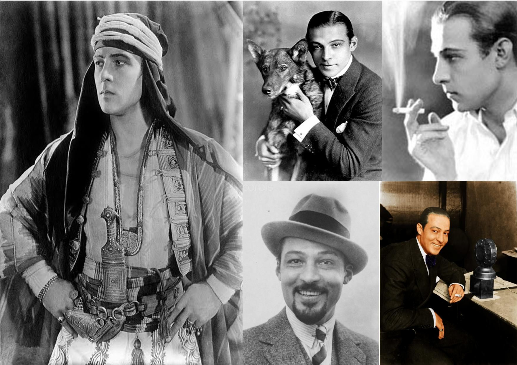 Rudolph Valentino ~ Born Rodolfo Alfonso Raffaello Pierre Filibert Guglielmi di Valentina d'Antonguolla, May 6, 1895 in Castellaneta, Apulia, Italy Died August 23, 1926 (aged 31) in New York City, New York, U.S. Italian-born American actor who starred in several well-known silent films.He had applied for American citizenship shortly before his death, which occurred at age 31, causing mass hysteria among his female fans and further propelling him into iconic status.