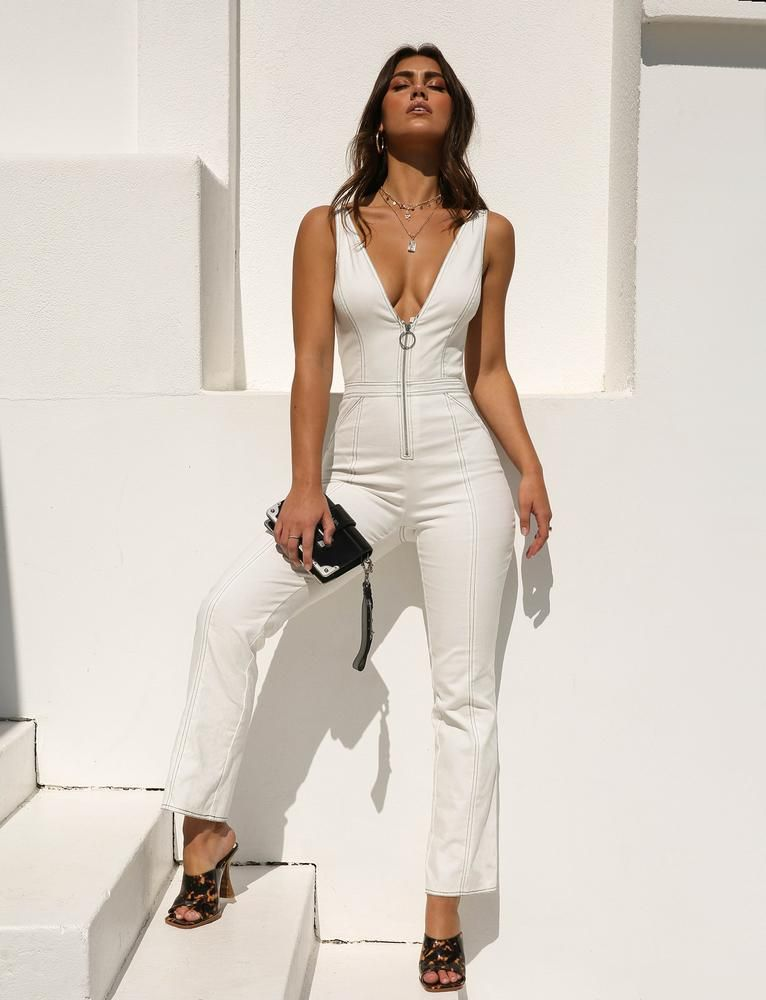 a82a82328aa Ava Jumpsuit - White  90 tiger mist