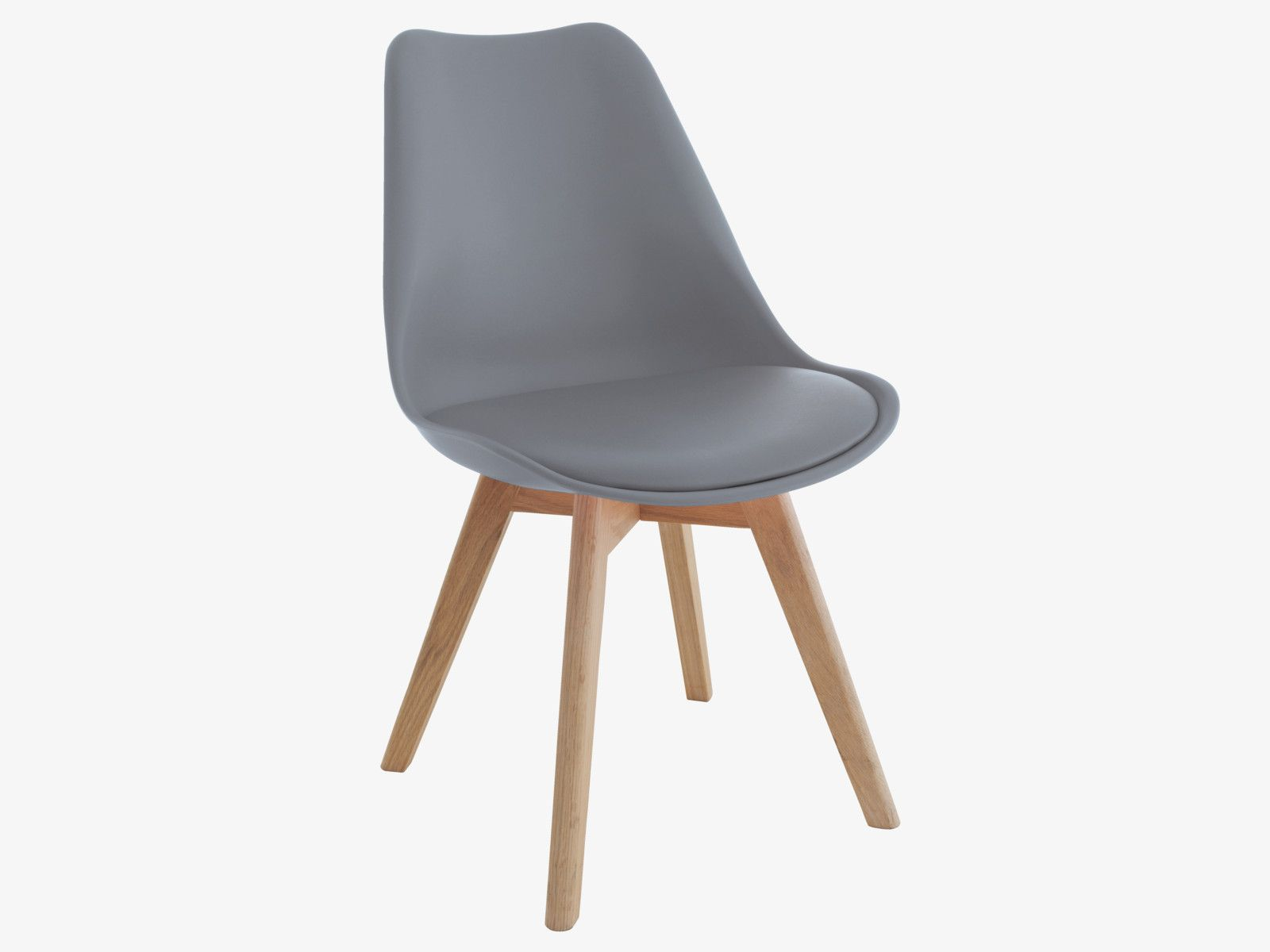Jerry Grey Dining Chair With Solid Oak Legs Modern
