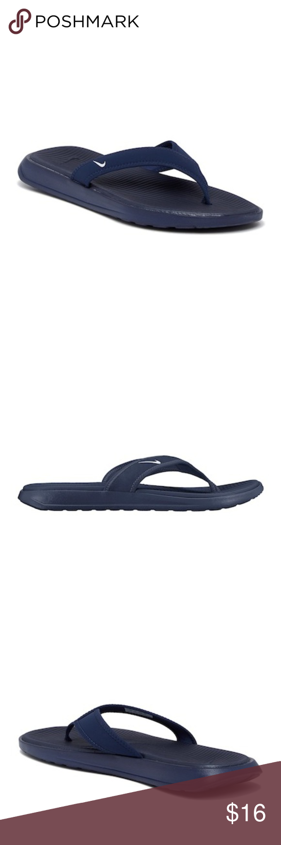 621cc424b61eb2 NIKE Ultra Celso Men Midnight Navy Thong Sandals Brand New