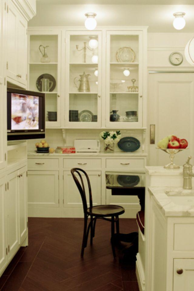 Tv In The Kitchen Tv In Kitchen Kitchen Remodel Kitchen Inspirations