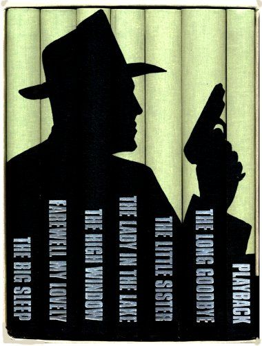 The Complete Novels: The Big Sleep; Farewell My Lovely; The High Window; The Lady in The Lake; The Little Sister; The Long Goodbye; Playback. Folio Society: 7 vols boxed by Raymond Chandler,http://www.amazon.com/dp/B000J2E9JW/ref=cm_sw_r_pi_dp_UI45sb1QNQZMRXGS