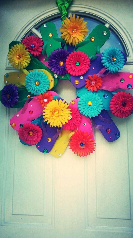 Flip Flop Summer Wreath by fancyflop on Etsy, $89.00