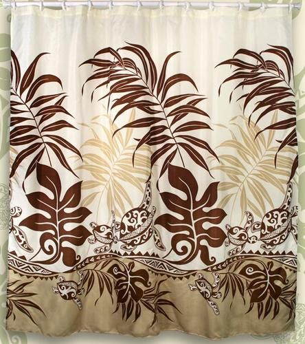 Honu Sea Turtle Hawaiian Quilt Print Bathroom Fabric Shower Curtain ...