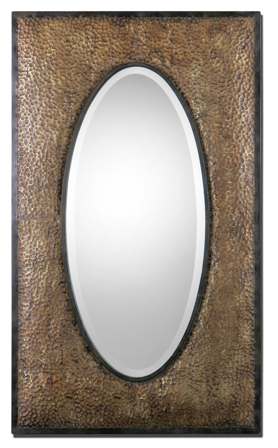 Sangro Hand hammered metal frame finished in rubbed