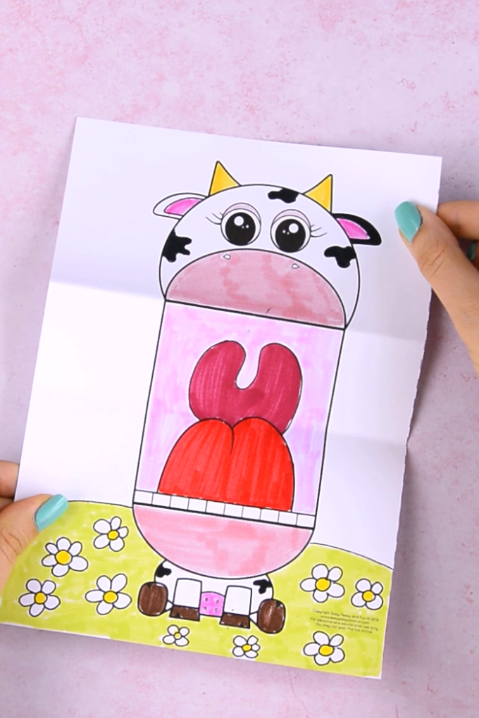 Surprise Big Mouth Cow Printable Easy Peasy and Fun