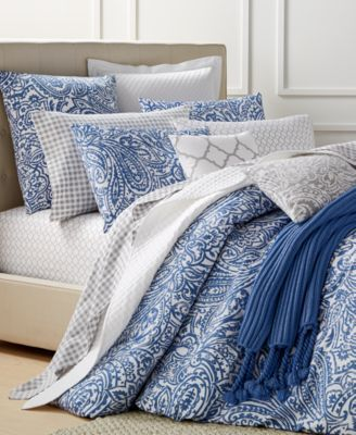 Charter Club Damask Designs Paisley Denim Bedding Collection Only At Macy S 29 99 Into The Blues Create Paisley Bedding Comforter Sets King Comforter Sets