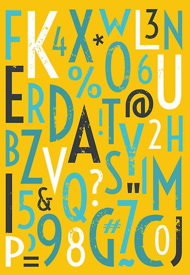 Retro letters and Numbers by Ivaleksa - redbubble.com