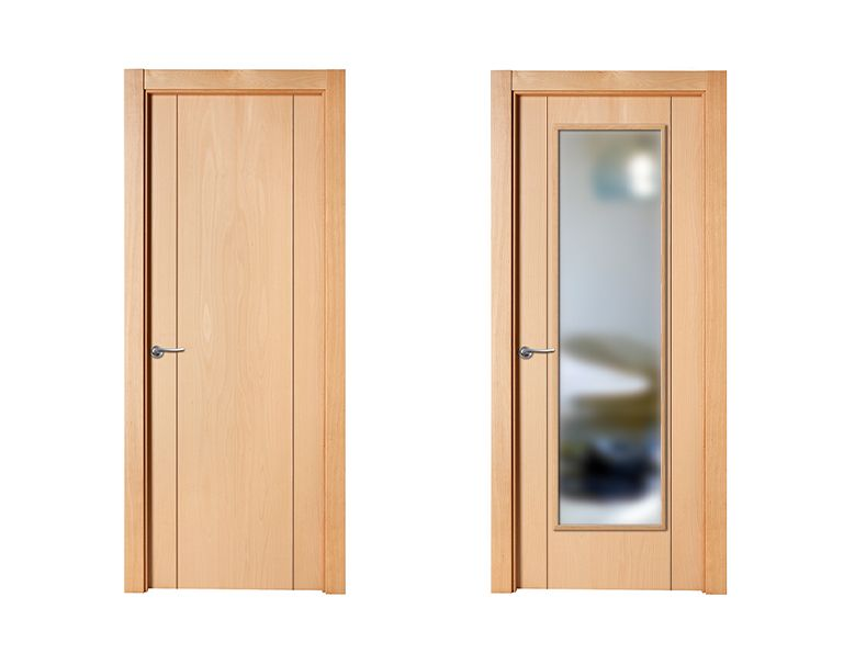 Puerta de interior clara modelo berl n de la serie lisa for Modelos de puertas de madera para interiores