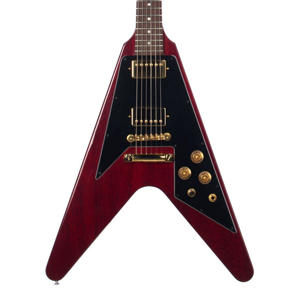 Used Gibson Custom Shop 1967 Flying V Reissue Cherry Electric 5039s And Modern Wiring Style Diagram From Http Wwwmylespaulcom Guitar