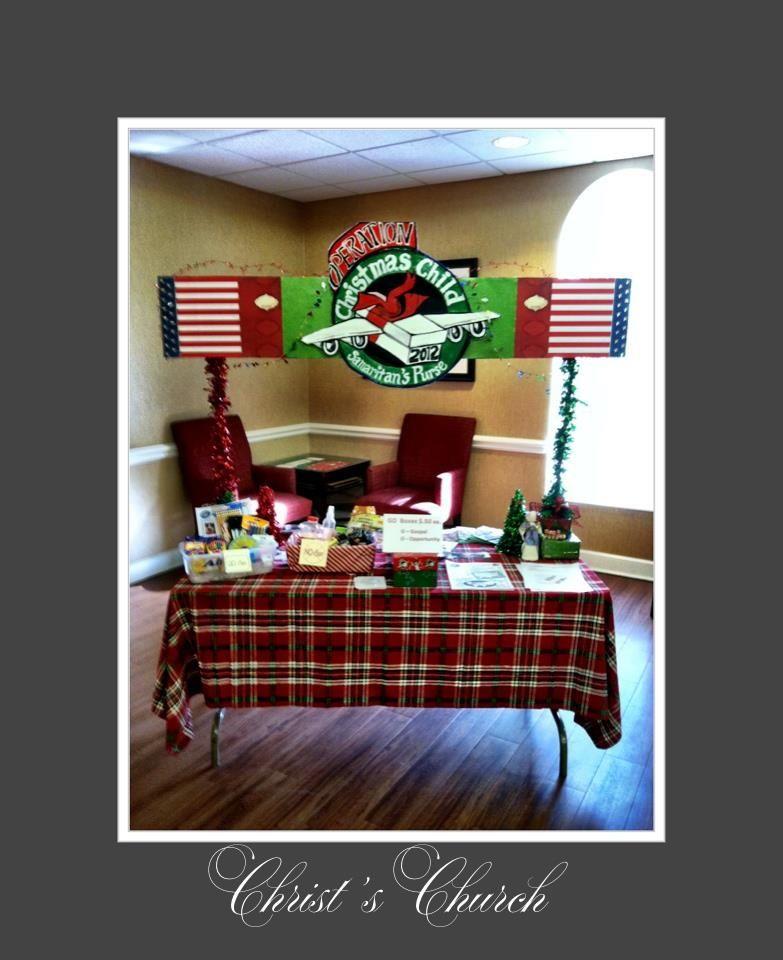 Operation Christmas Child Shoebox Display.Operation Christmas Child Display Shoebox Packers