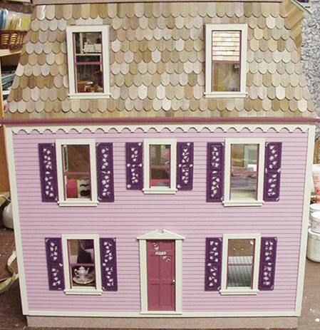 Claremont Milled Dollhouse Kit Clapboard Siding Milled Into The Sides And Front 7 Rooms 24 X 12 X 27 Tall The Clapboard Siding Clapboard Dollhouse Kits