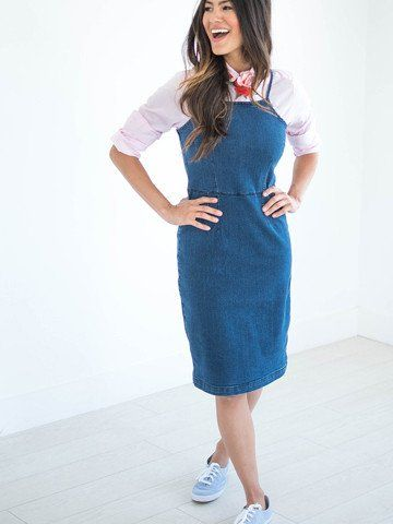 45362ed8f2 Denim Jumper Dress