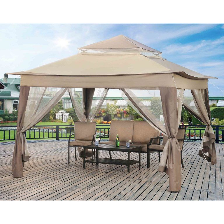 Exterior Charming 10x10 Gazebo Plans Hardtop Metal Gazebo Hardtop Gazebo Patio Canopy Sears Garden Oasis Pergola Canopy Backyard Designs Inspiring On Backyard